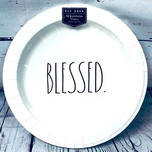 Rae Dunn BLESSED Paper Luncheon Plates Set of 16